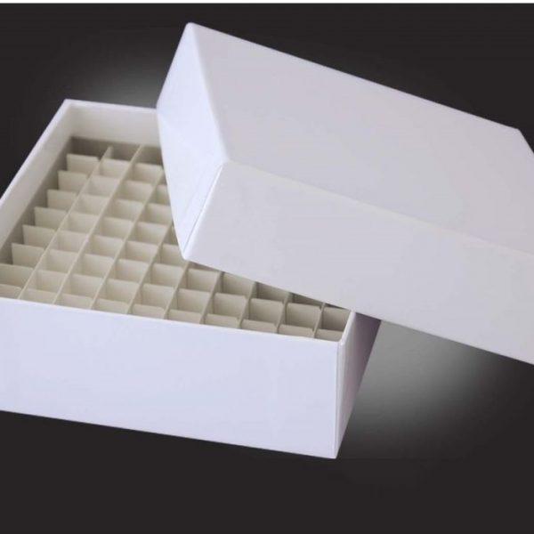 Caixa papelão criogenia 2mlpara congelamento para tubos criogênicos ou econlab micr otubos cônicos de 1 a 2,0 ml