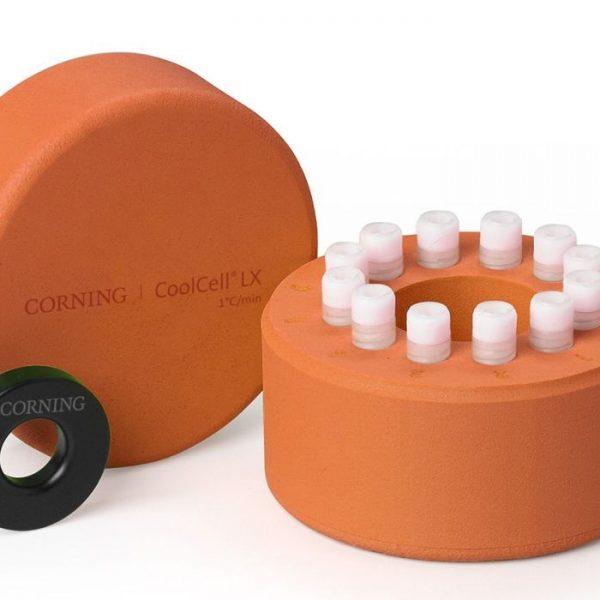 """econolab Coolcell recipiente congelamento celular, sem alcool, em outras palavras, """"Freeze cells"""", cor laranja, capacidade: 12 tubos de 1 a 2 ml"""