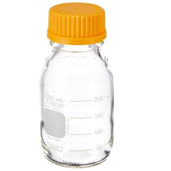 garrafa para armazenagem 250 ml pyrex